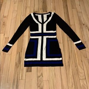 Geometric Sweater Top